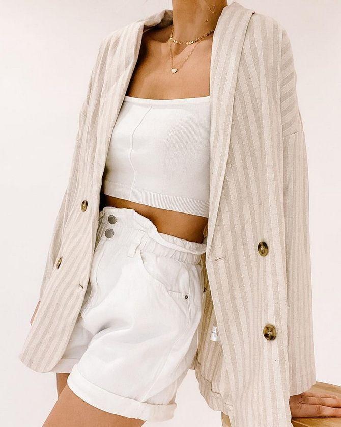 белый пиджак удлиненный женский