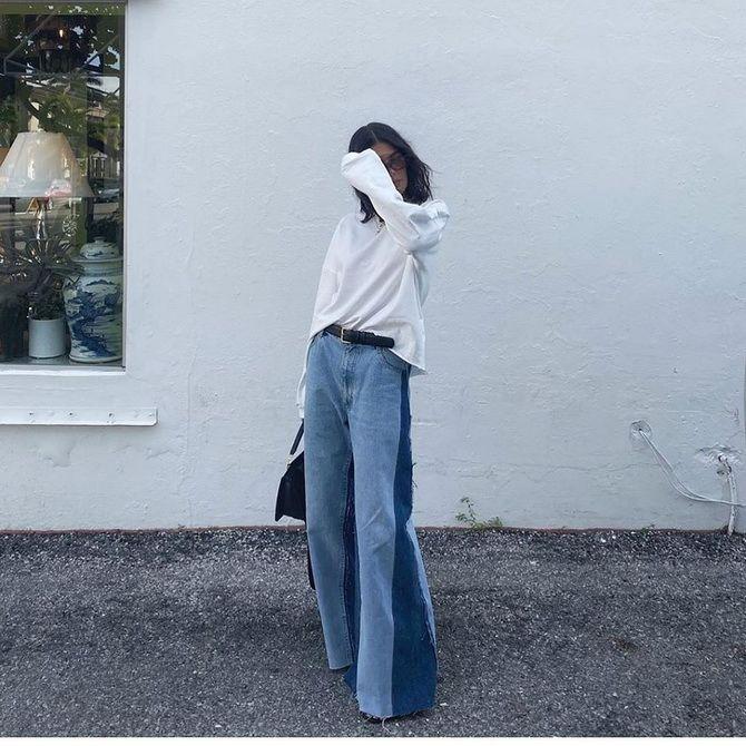 широкие джинсы женские 2020