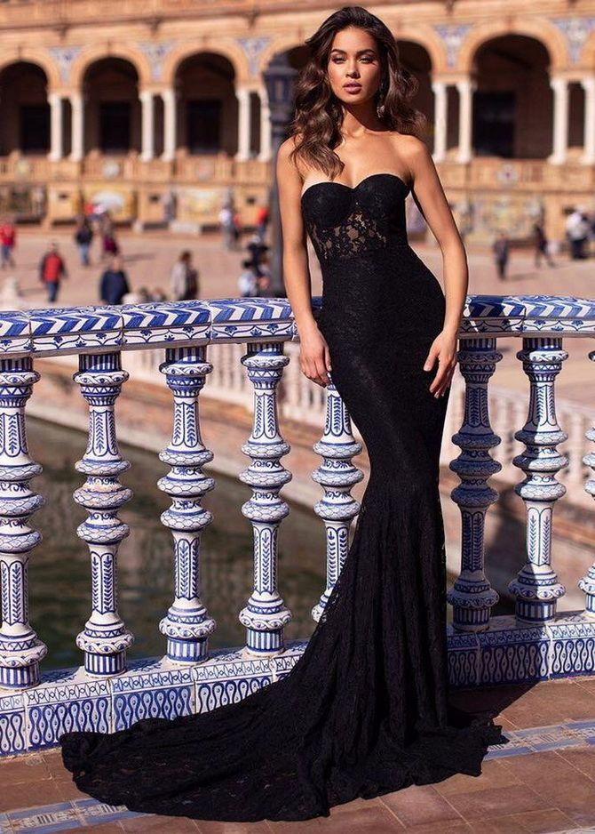 черно платье на выпускной