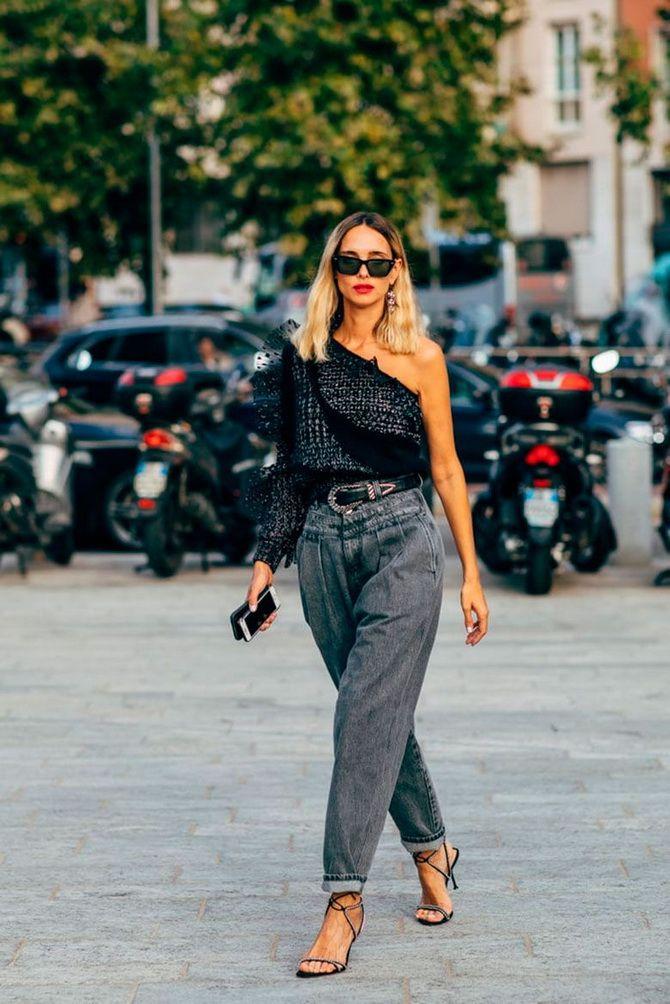 З чим носити джинси-банани в 2021 році: 45 модних ідей 3