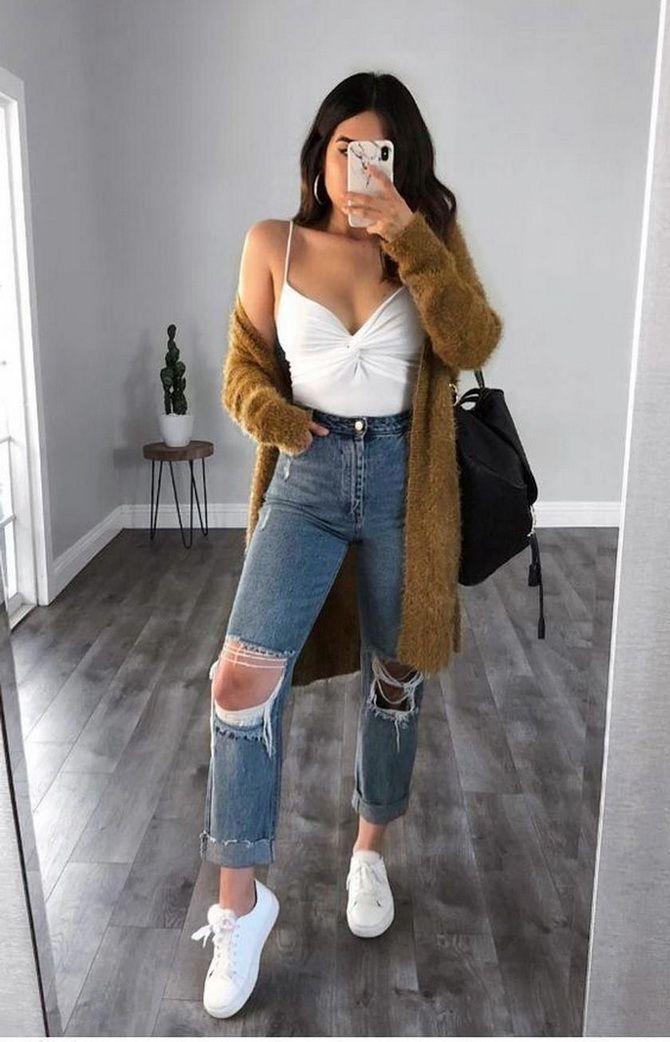 высокие джинсы фото
