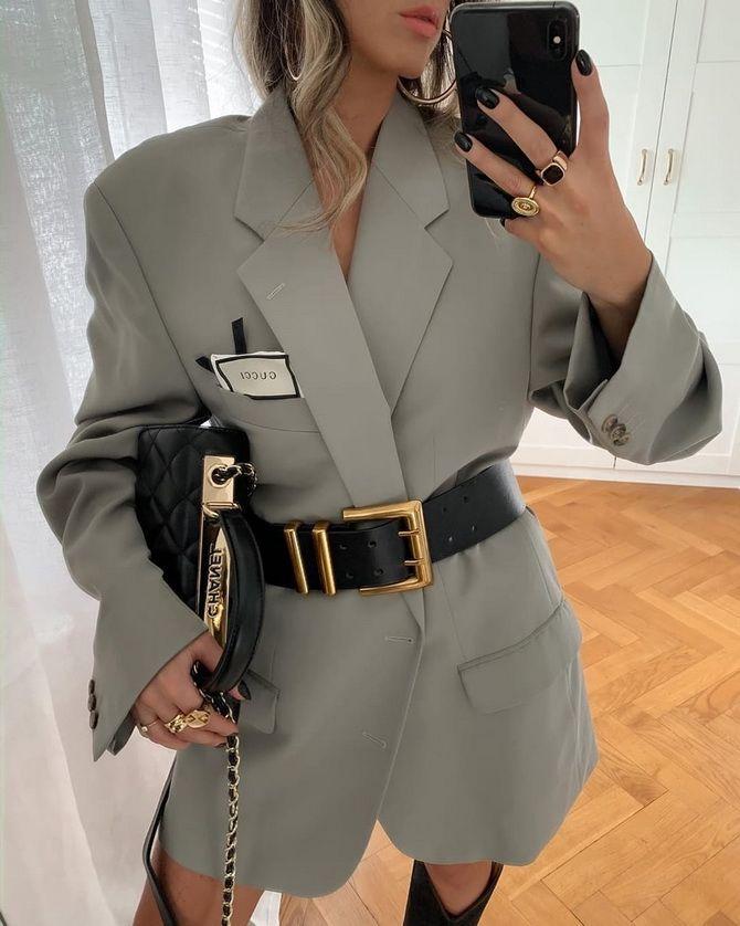 удлиненный пиджак женский
