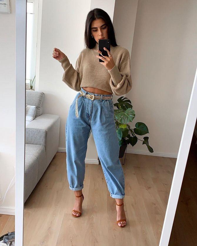 З чим носити джинси-банани в 2021 році: 45 модних ідей 30