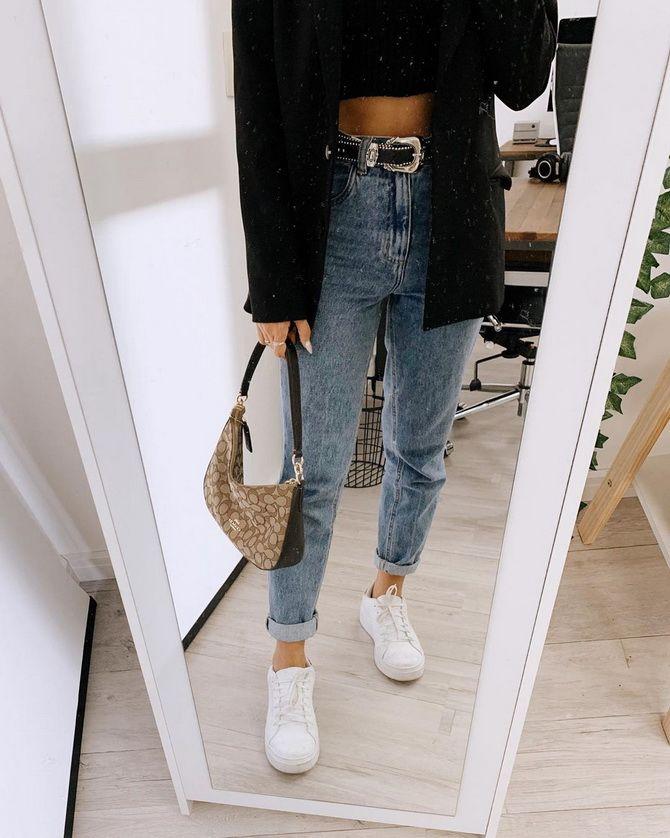 джинсы бананы мом