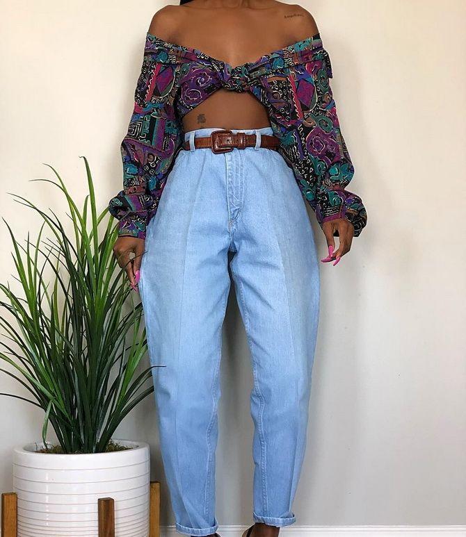З чим носити джинси-банани в 2021 році: 45 модних ідей 33
