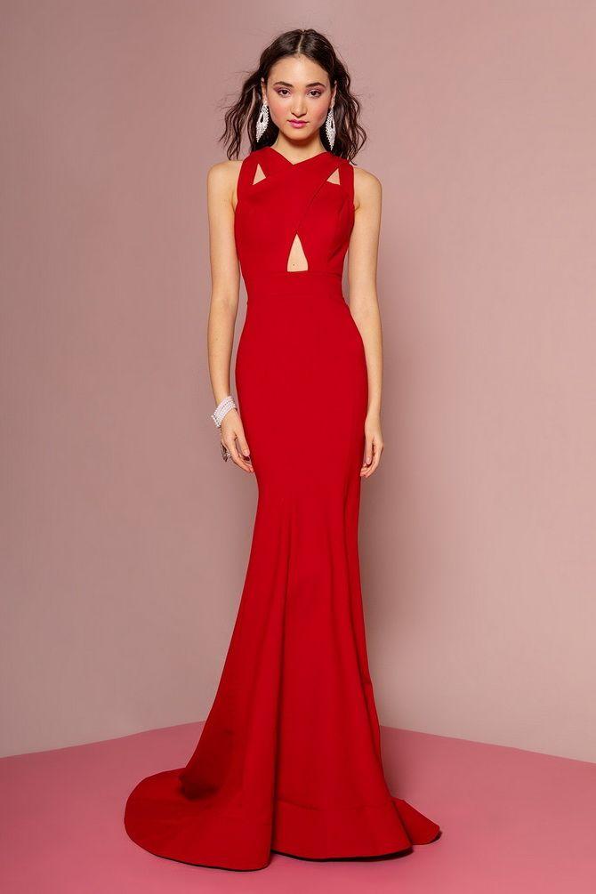 какое красное платье