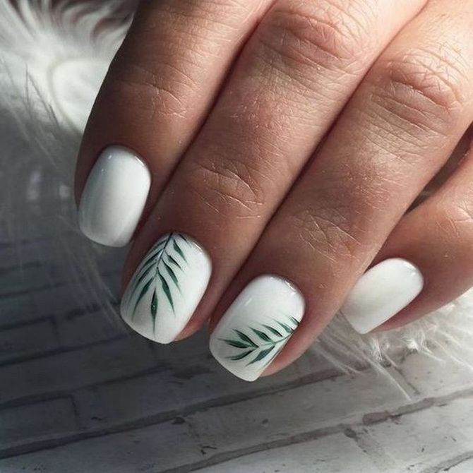 летний маникюр на короткие ногти