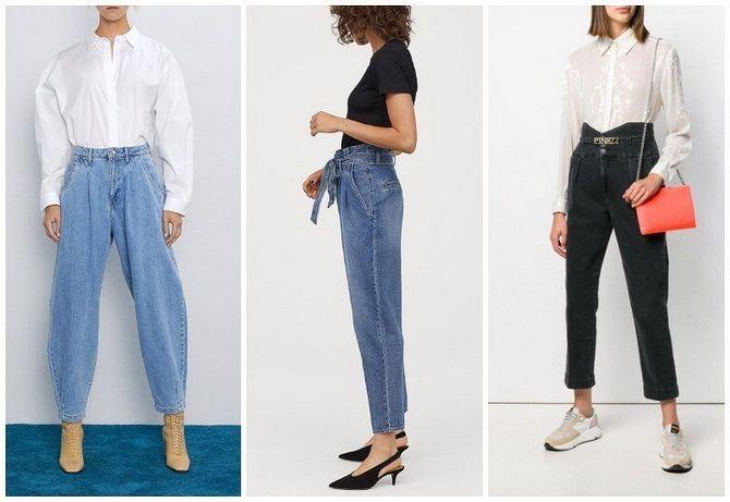 С чем носить джинсы-бананы в 2020 году: 45 модных идей 14