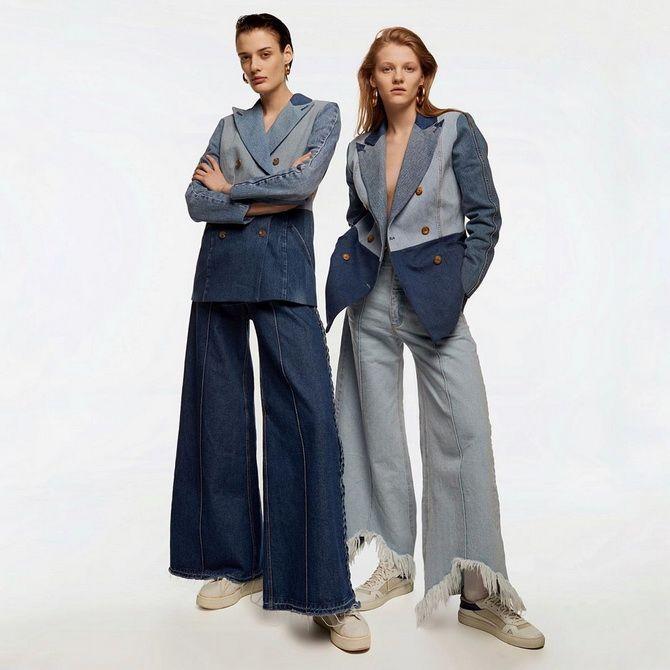 С чем носить широкие джинсы: подборка лучших идей 2021 1