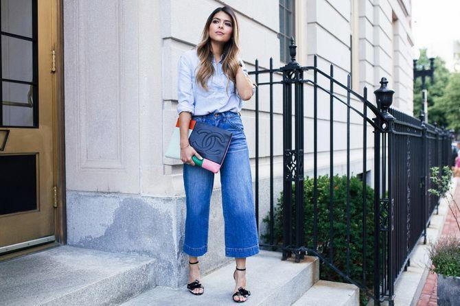 широкие джинсы фото