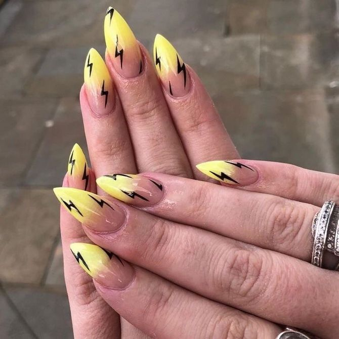 модный маникюр 2020 желтый градиент