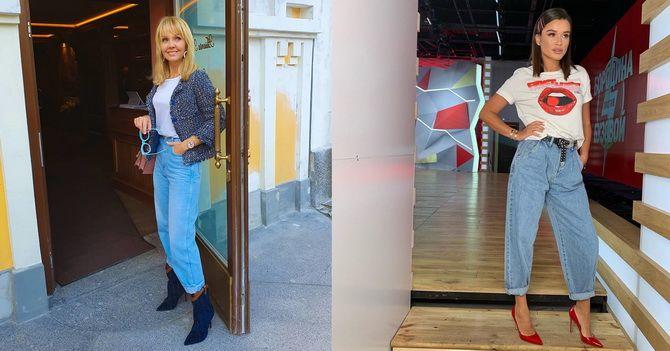 С чем носить джинсы-бананы в 2020 году: 45 модных идей 17