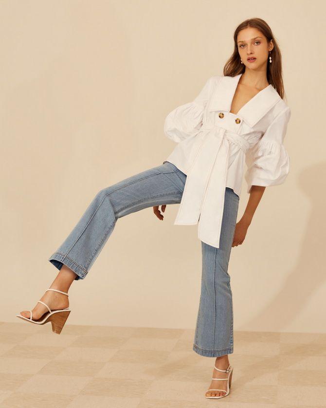 широкие модные джинсы