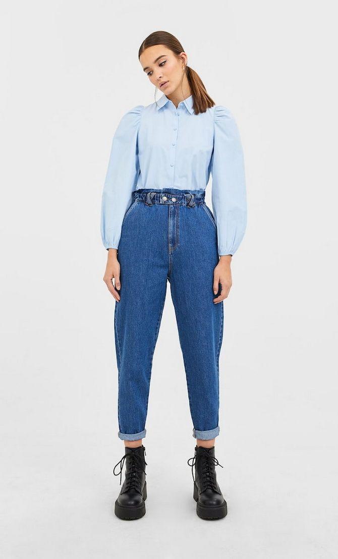 С чем носить джинсы-бананы в 2020 году: 45 модных идей 18