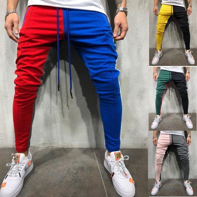 двухцветные штаны