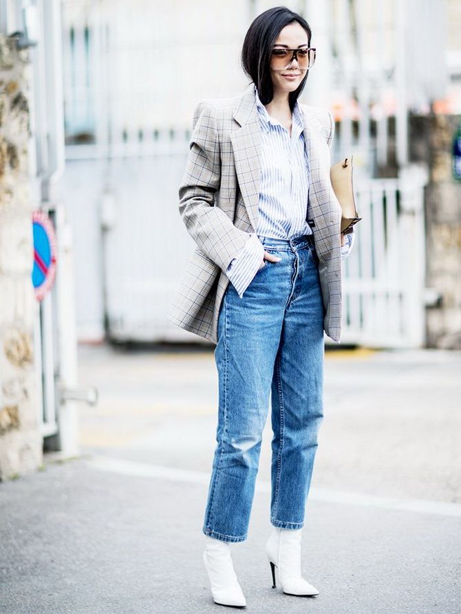 джинсы бойфренды женские полным