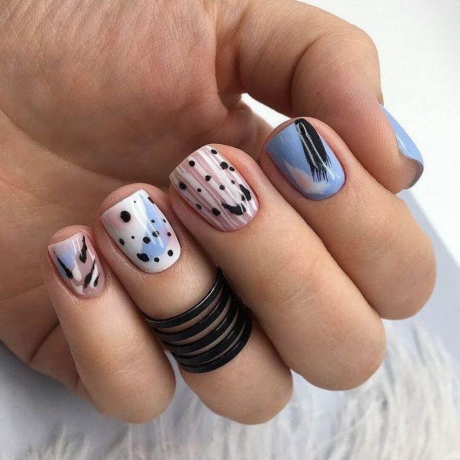 маникюр лаком короткие ногти