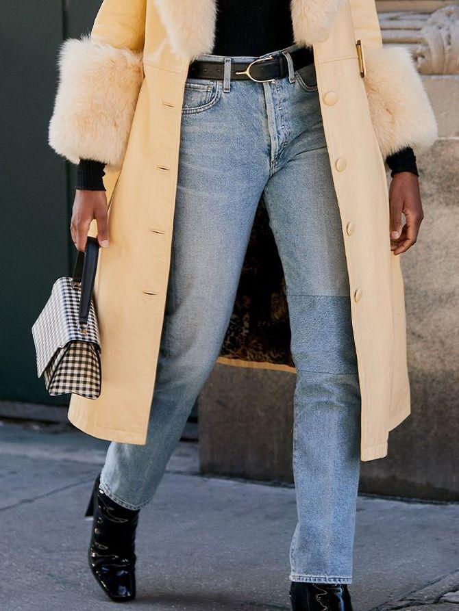 джинсы бойфренды женские с высокой