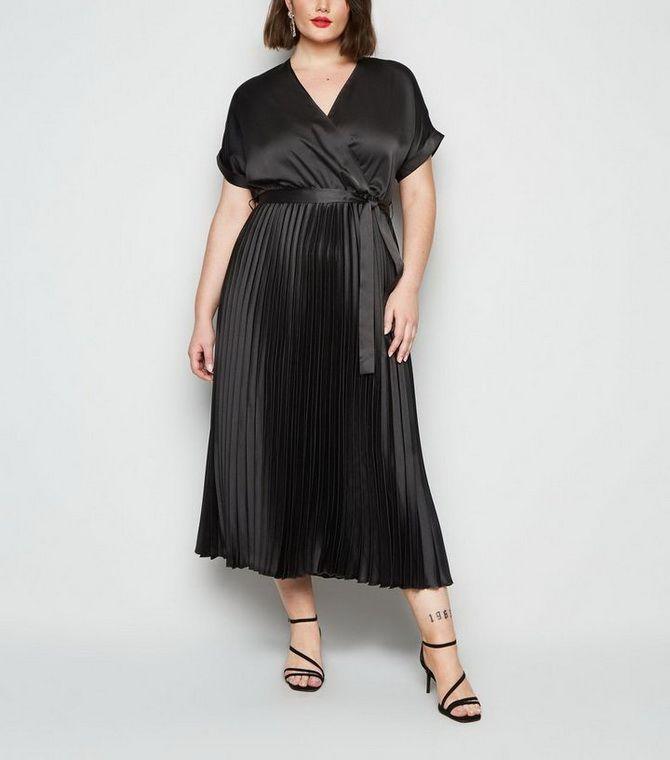 Вечерние модели черных платьев для полных девушек