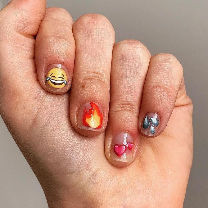 маникюр дизайн на короткие ногти