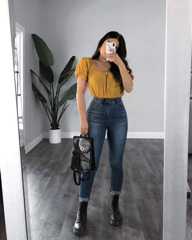 джинсы бананы +с высокой талией