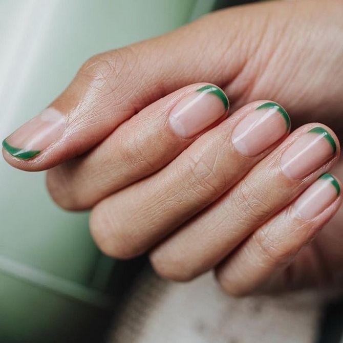 маникюр на короткие ногти нежные