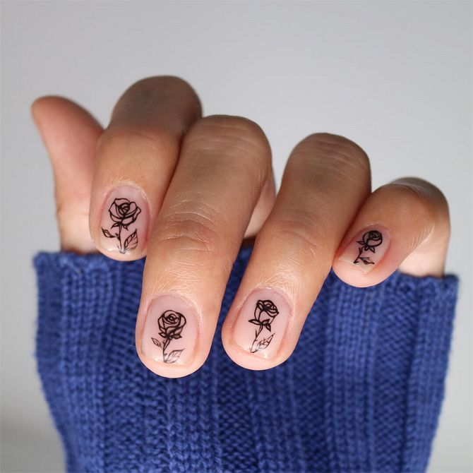 фото маникюра на короткие ногти 2020