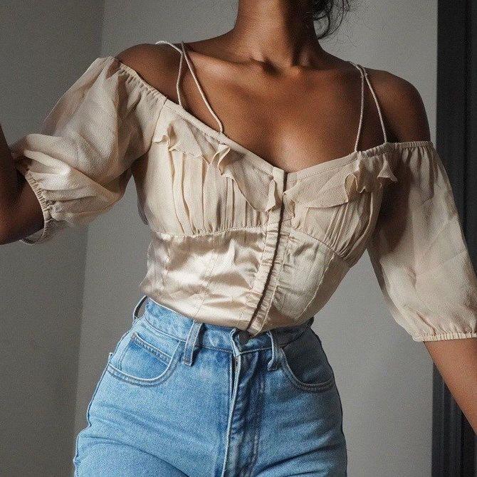 джинсы женские с высокой