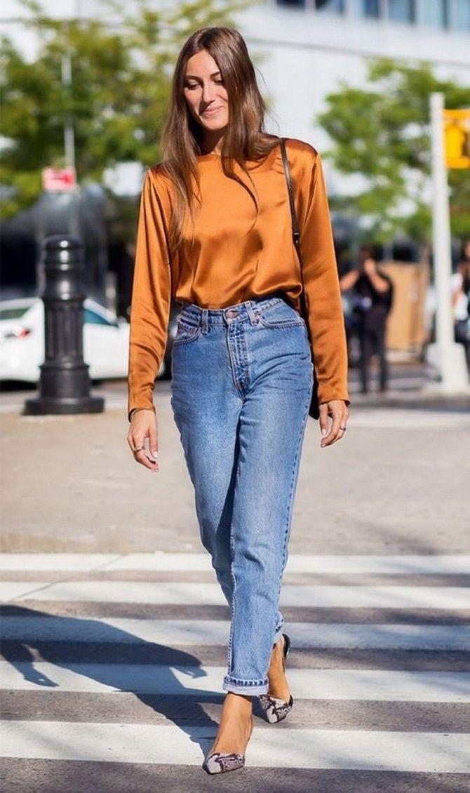 высокая посадка джинсы