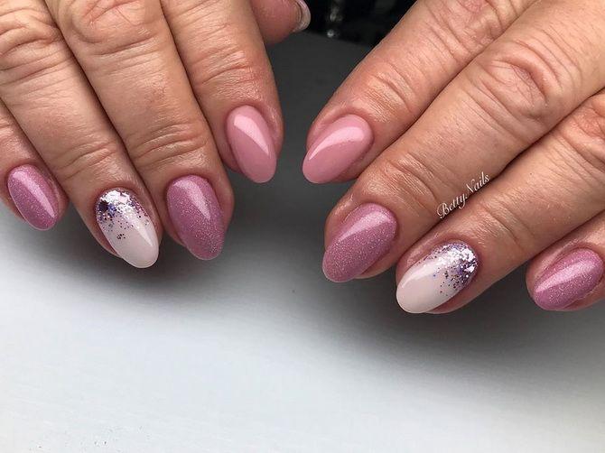 весенний розовый маникюр