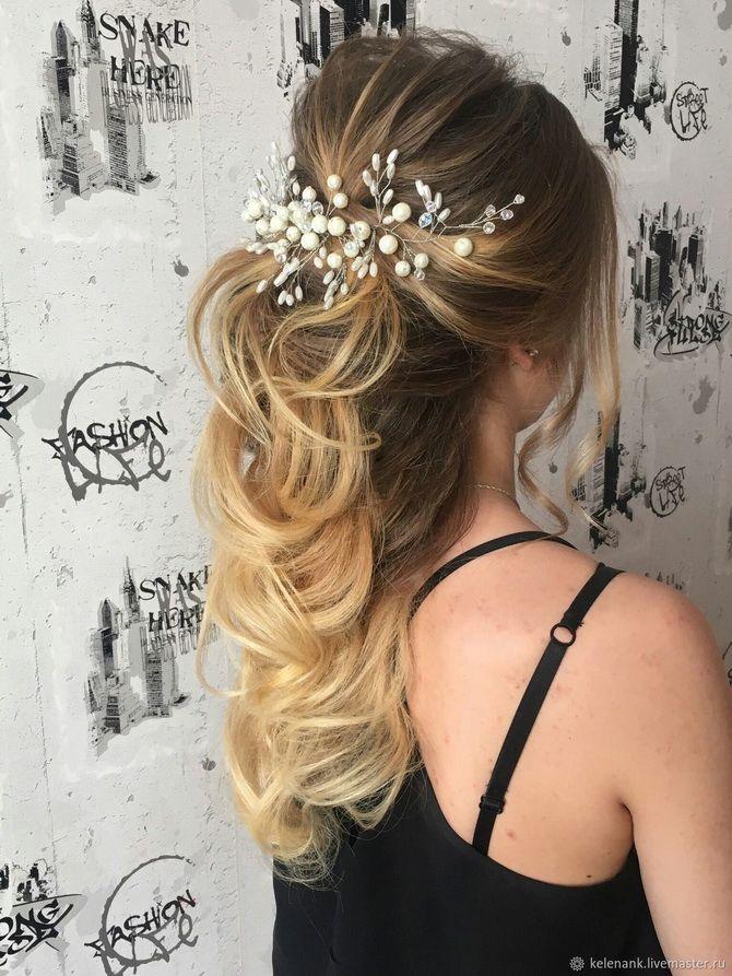 прическа на выпускной на волосы