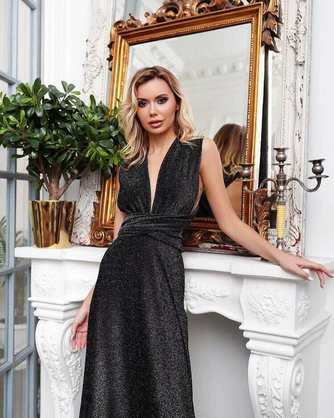фото черных платьев