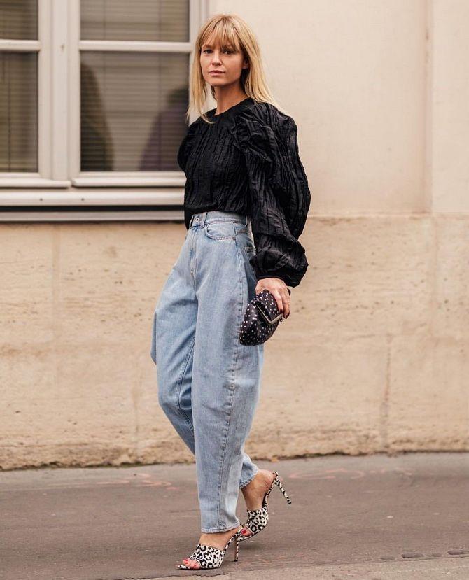 З чим носити джинси-банани в 2021 році: 45 модних ідей 8