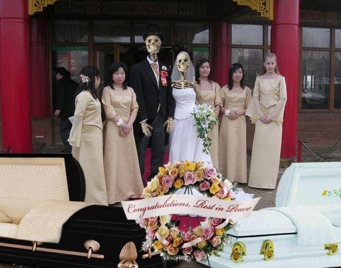 скелеты свадьба