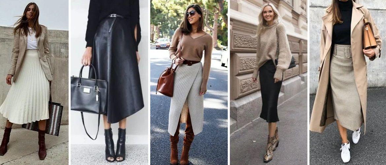 З чим носити спідницю міді: 50 стильних варіантів 2021-2022 року