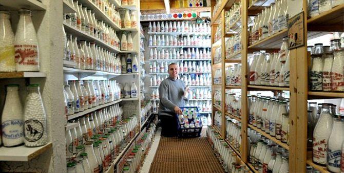 Коллекционирование бутылок из-под молока