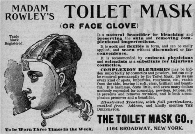 Туалетна маска мадам Роулі