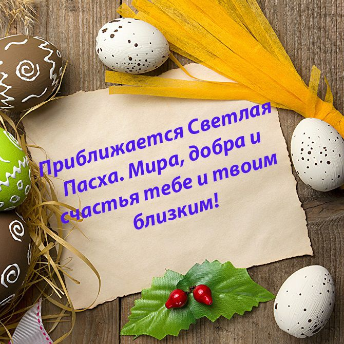 Щиросердечні привітання Великдень