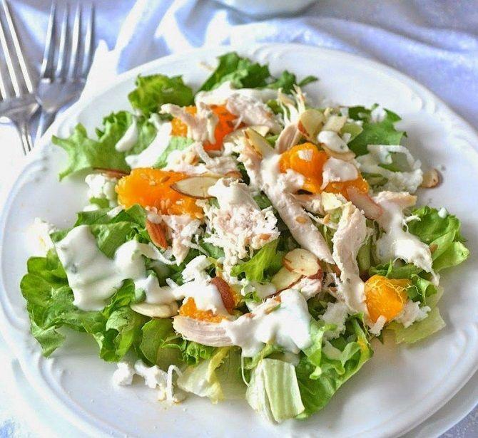 Салат с курицей и курагой