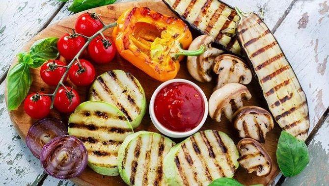 овочі для барбекю