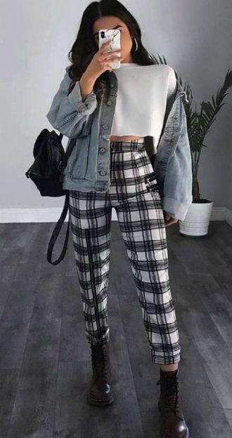 Клетчатый стиль, или С чем носить брюки в клетку в 2021 10