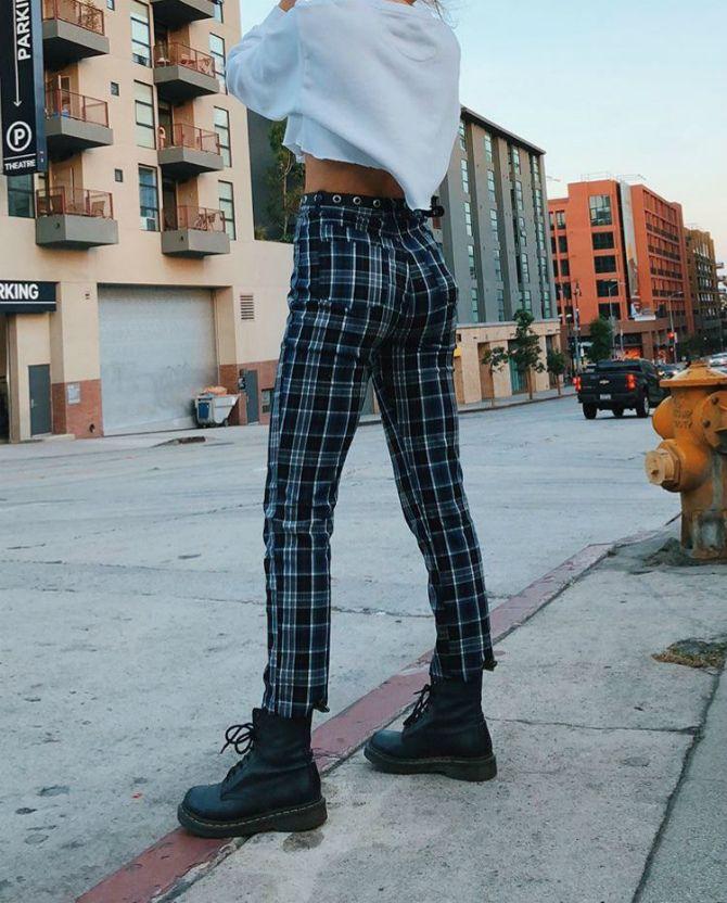брюки в клетку женские 2020