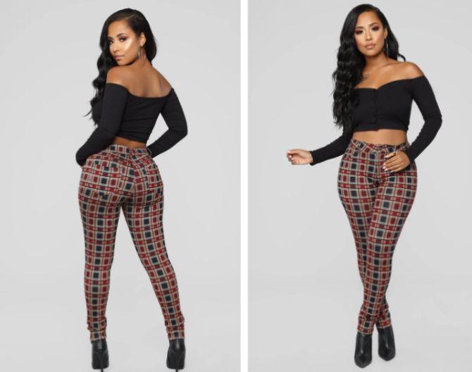 модные брюки в клетку женские 2020
