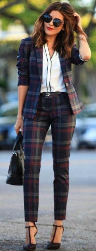 Клетчатый стиль, или С чем носить брюки в клетку в 2021 4