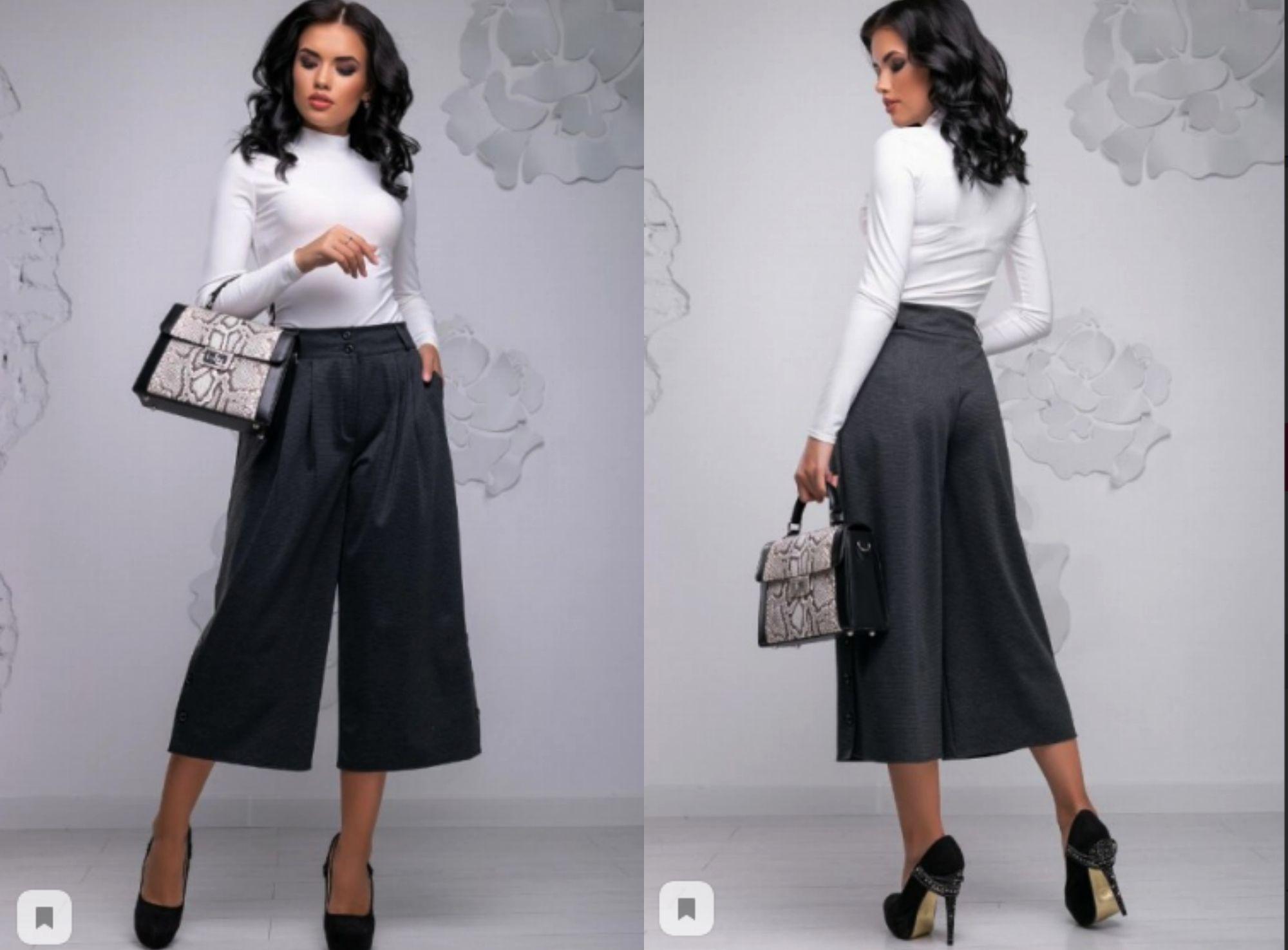 брюки кюлоты женские