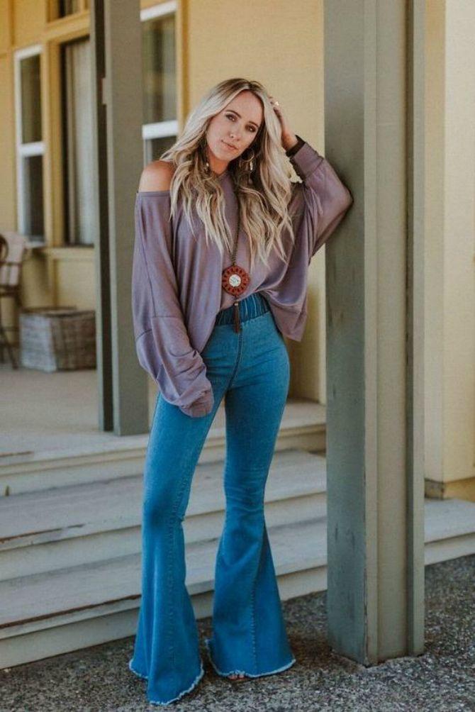 джинсы клеш высокие