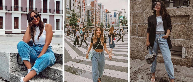 С чем носить джинсы-бананы в 2020 году: 45 модных идей