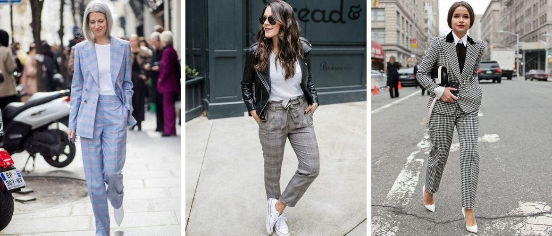 Клетчатый стиль, или С чем носить брюки в клетку в 2021