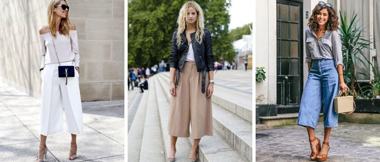 Брюки-кюлоти: з чим носити модний тренд 2020