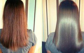 ламинирвоание волос